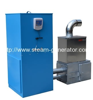 Biomass pellet hot air generator for greenhouse