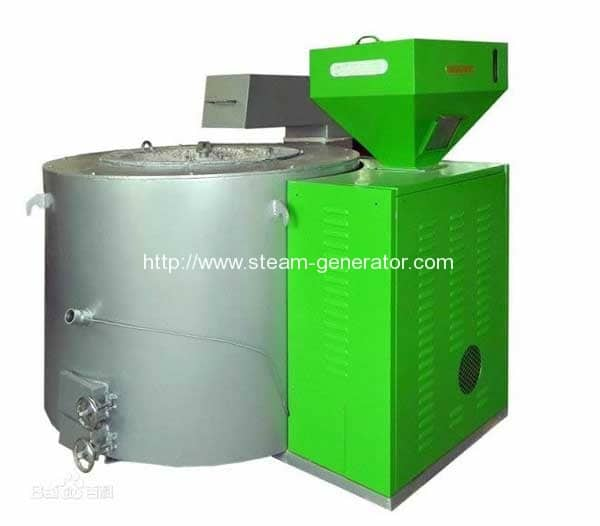 Biomass-pellet-fired-aluminium-melting-furnace