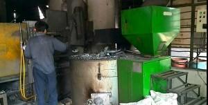 Biomass Pellet 800Kg/h Melting Aluminium Furnace