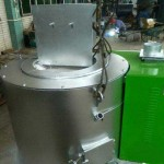 Biomass Pellet Fired 300Kg/H Aluminium Melting Furnace