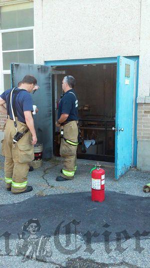 Boiler fire at Woburn Street School