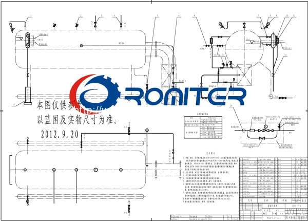 CDZL-Chain-Grate-Biomass-&-Wood-Fired-Hot-Water-Boiler-Foundation-Drawing