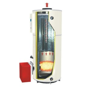 Vertical Gas & Oil Fired Hot Water Boilers